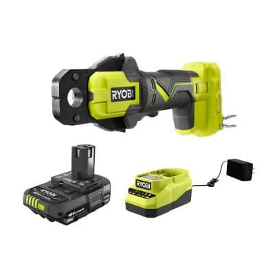 ONE+ 18V Cordless PEX Crimp Ring Press Tool and 2.0 Ah Compact Battery and Charger Starter Kit