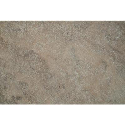 Silver Tumbled 16 in. x 24 in. Gray Travertine Paver Tile (60 Pieces/160.2 Sq. Ft./Pallet)