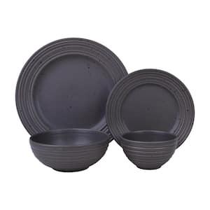 Kota 16-Piece Casual Ash Stoneware Dinnerware Set (Service for 4)