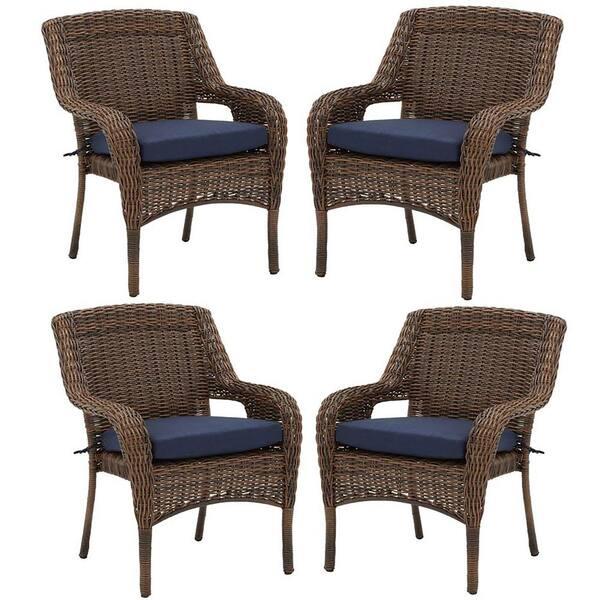Hampton Bay Cambridge Brown Resin, Resin Wicker Outdoor Furniture