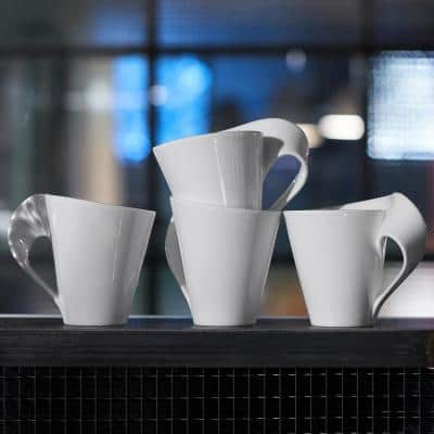 New Wave 12-Piece Modern Glazed Porcelain Dinnerware Set (Service for 4)