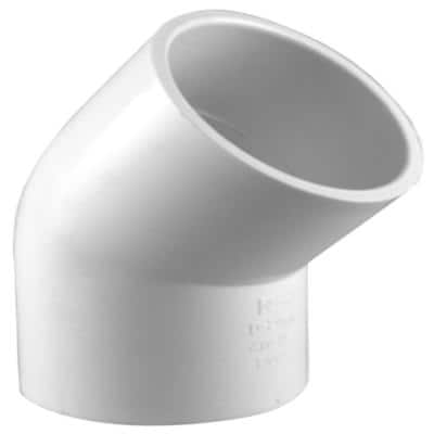 2 in. PVC Schedule. 40 45-Degree S x S Elbow Fitting