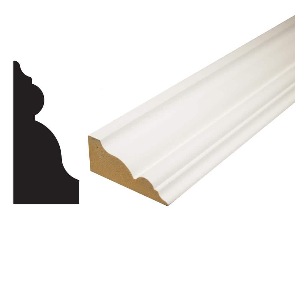 Alexandria Moulding 1 1 4 In X 2 3 4 In X 96 In Primed Mdf Crown Moulding Cr001 96096c The Home Depot