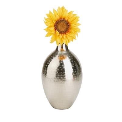 Silver Iron Flower Vase Modern Home Furnishing Indoor Outdoor Decoration