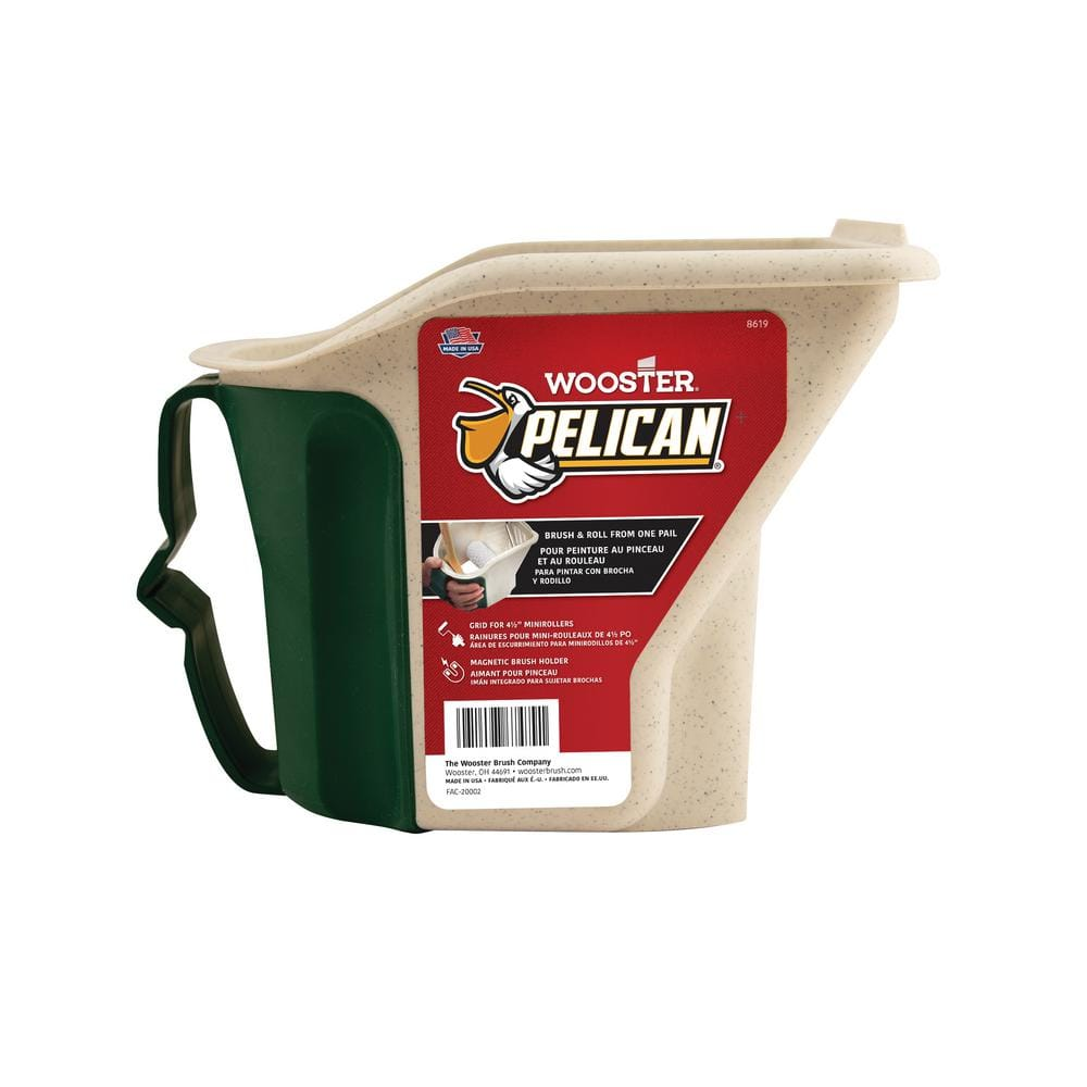 Wooster 1 qt. Pelican Hand-Held Pail with Brush Magnet