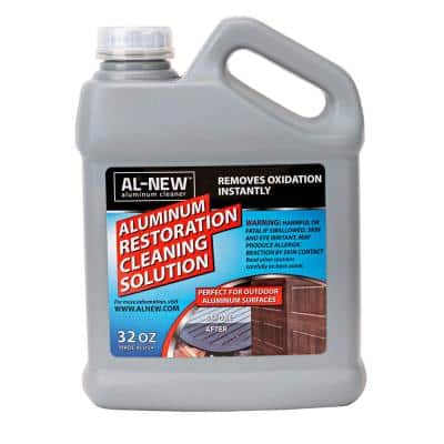 32 oz. Aluminum Restoration Cleaning Solution : Cleaner For Outdoor Restore Patio Furniture, Stainless Steel, and More
