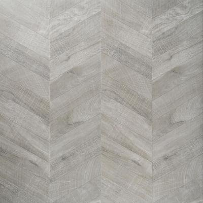 Montgomery Chevron Gray 24 in. x 48 in. Matte Porcelain Floor and Wall Tile (15.49 sq. ft./Case)