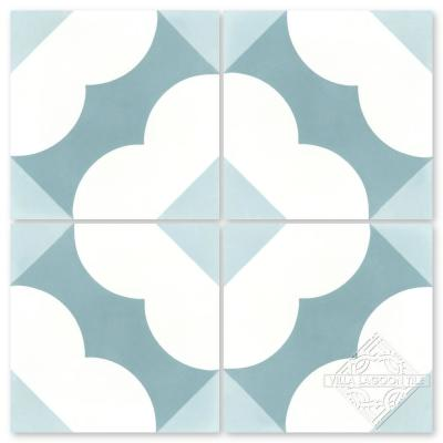 Katie Caribbean 8 in. x 8 in. Cement Handmade Floor and Wall Tile (Box of 16/ 6.96 sq. ft.)