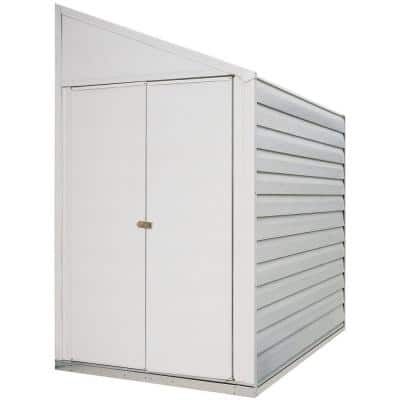 Yard Saver 4 ft. W x 10 ft. D White Galvanized Metal Storage Shed