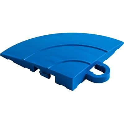 4.5 in. x 2.75 in. Royal Blue Polypropylene Corner Edging for Diamondtrax Home Modular Flooring (4-Pack)
