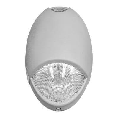 Always-On 120-277-Volt Integrated LED Nickel Light Gray Emergency Light