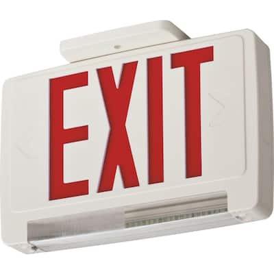 ECBR 3-Watt Integrated LED White Emergency Light Combo Red