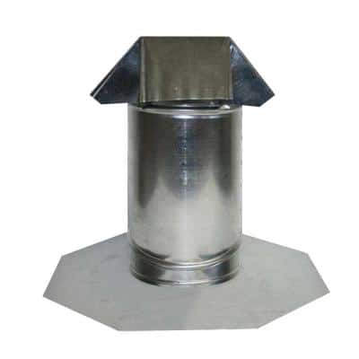 6 in. Adjustable Pitch Galvanized Steel Pipe Flashing