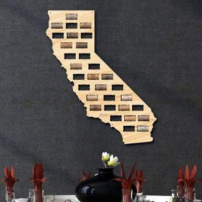 21 in. x 17.5 in. California Wine Cork Map