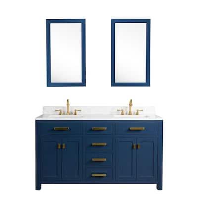 Adjustable Shelves 60 Inch Vanities Bathroom Vanities Bath The Home Depot