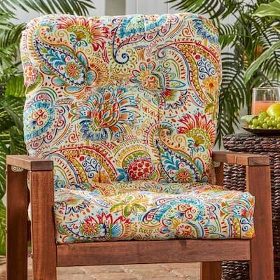 Jamboree Paisley Outdoor Dining Chair Cushion