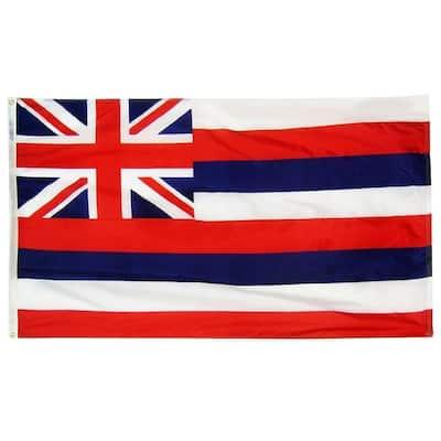 5 ft. x 8 ft. Nylon Hawaii State Flag