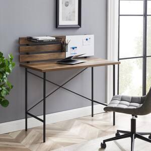 42 in. Rectangular Reclaimed Barnwood Writing Desks with Storage