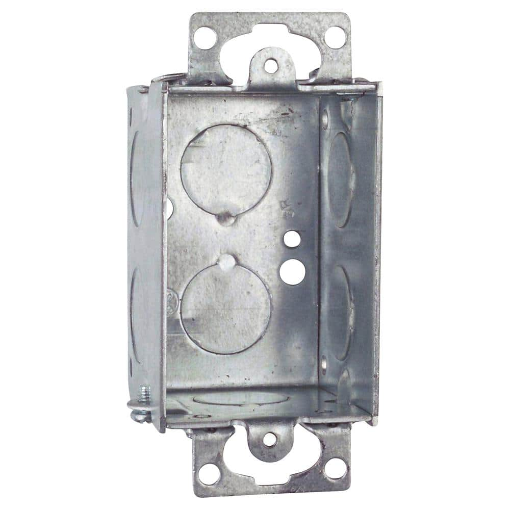Steel City 1 Gang 10 Cu In Old Work Gangable Metal Switch Box Case Of 20 51 20r The Home Depot