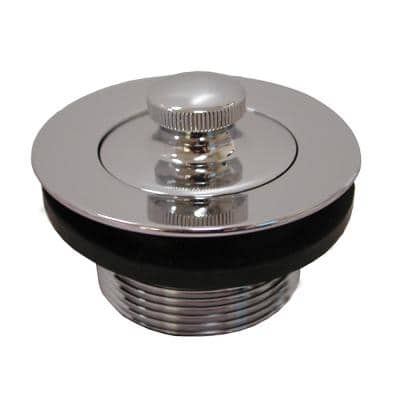1-1/2 in. Lift and Turn Bath Tub Drain with 1-7/8 in. O.D. Coarse Threads, Polished Stainless