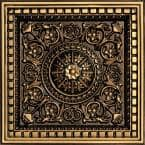 Da Vinci 2 ft. x 2 ft. PVC Lay-in Ceiling Tile in Antique Gold