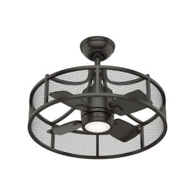 Seattle 21 in. Integrated LED Indoor Noble Bronze Ceiling Fan with Light Kit and Wall Control