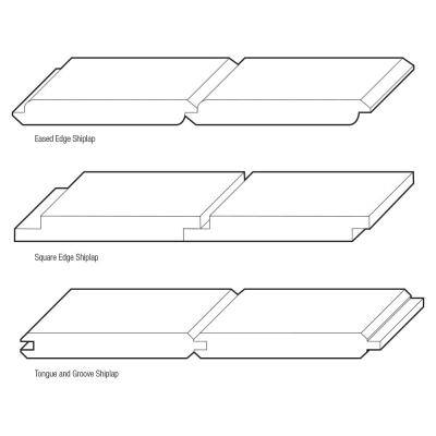 1 in. x 8 in. x 8 ft. Eased Edge Pine Shiplap Board (6-Pack)