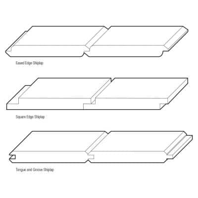 1 in. x 8 in. x 4 ft. Unfinished Pine Tongue and Groove Shiplap Siding Board (6-Pack)