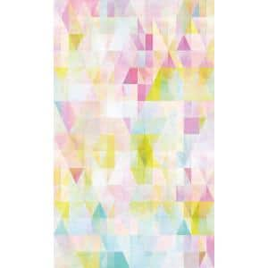 Prismatic Geo Pink and Blue Peel and Stick Wallpaper (Covers 28.29 sq. ft.)