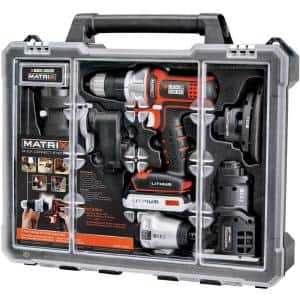 20-Volt Max Lithium-Ion Cordless Matrix Combo Kit with Storage Case (6-Tool)