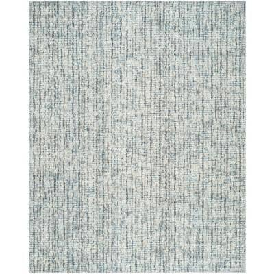 Abstract Blue/Charcoal 9 ft. x 12 ft. Solid Area Rug