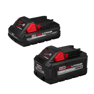 M18 18-Volt Lithium-Ion HIGH OUTPUT XC 8.0 Ah and 3 Ah Battery (2-Pack)