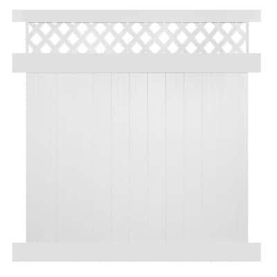 Ashton 7 ft. H x 8 ft. W White Vinyl Privacy Fence Panel Kit
