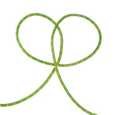216 in. Lime Green Indoor/Outdoor Christmas Rope Light Decoration