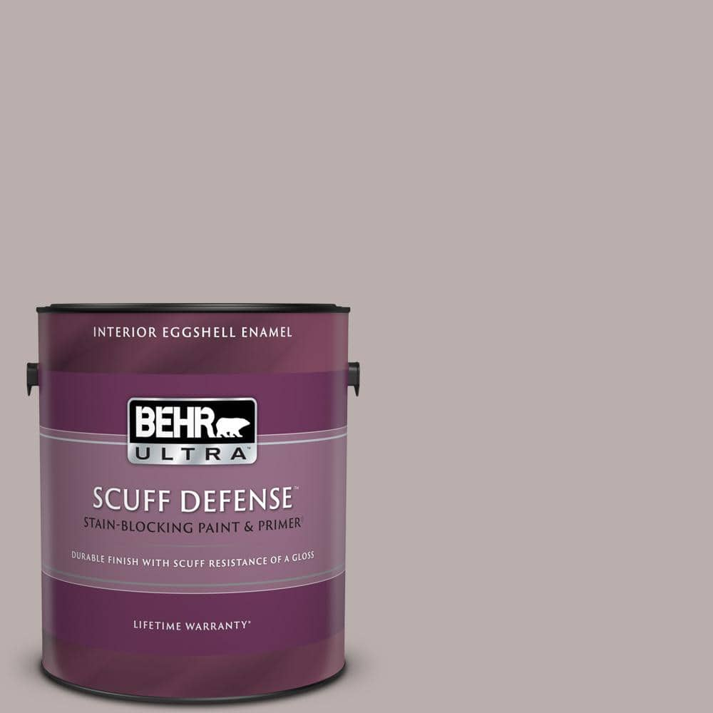 Behr Ultra 1 Gal Ppu17 11 Vintage Mauve Extra Durable Eggshell Enamel Interior Paint Primer 275401 The Home Depot
