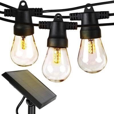 Ambience Pro Outdoor 48 ft. L Solar LED 1-Watt S14 Edison Bulb Non Hanging String Light 3000k