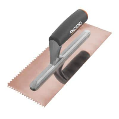 1/4 in. x 3/16 in. V-Notch Trowel with Golden Finish