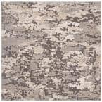 Spirit Taupe/Gray 7 ft. x 7 ft. Square Area Rug