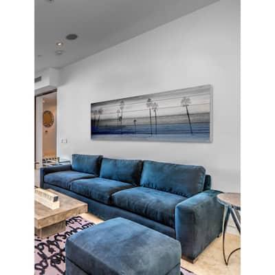 """20 in. H x 60 in. W """"Stormy Calm"""" by Parvez Taj Printed White Wood Wall Art"""