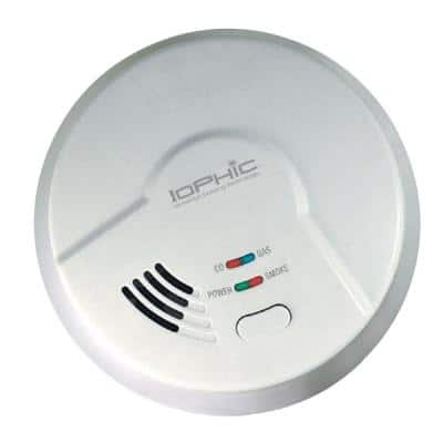 Hardwired, 4-In-1 Smoke, Fire, Carbon Monoxide And Natural Gas Detector, 9V Battery Backup, Microprocessor Intelligence