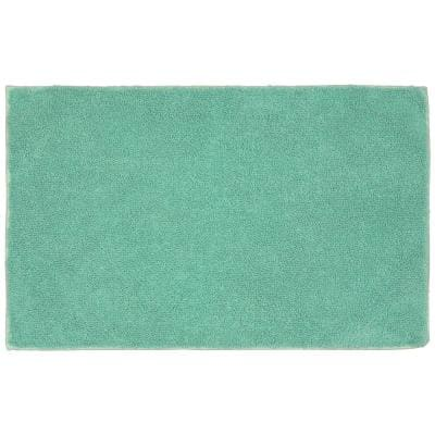 Queen Sea Foam 24 in. x 40 in. Solid Cotton Bath Mat