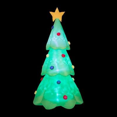 9 ft. Lighted Inflatable Christmas Tree Decor