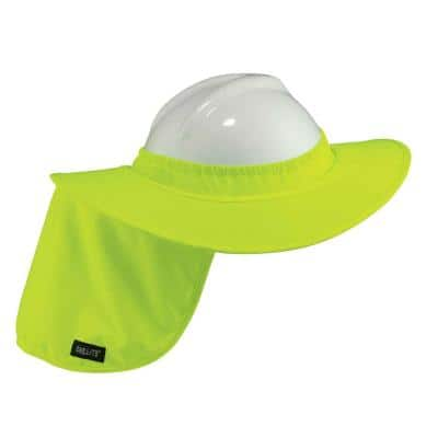 Lime Hard Hat Brim with Shade