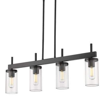 Winslett 4-Light Matte Black Linear Pendant