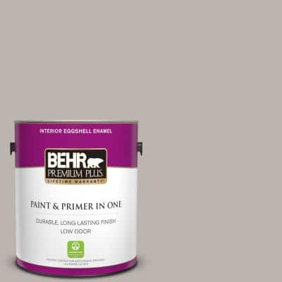 1 gal. #PPU18-12 Graceful Gray Eggshell Enamel Low Odor Interior Paint and Primer in One