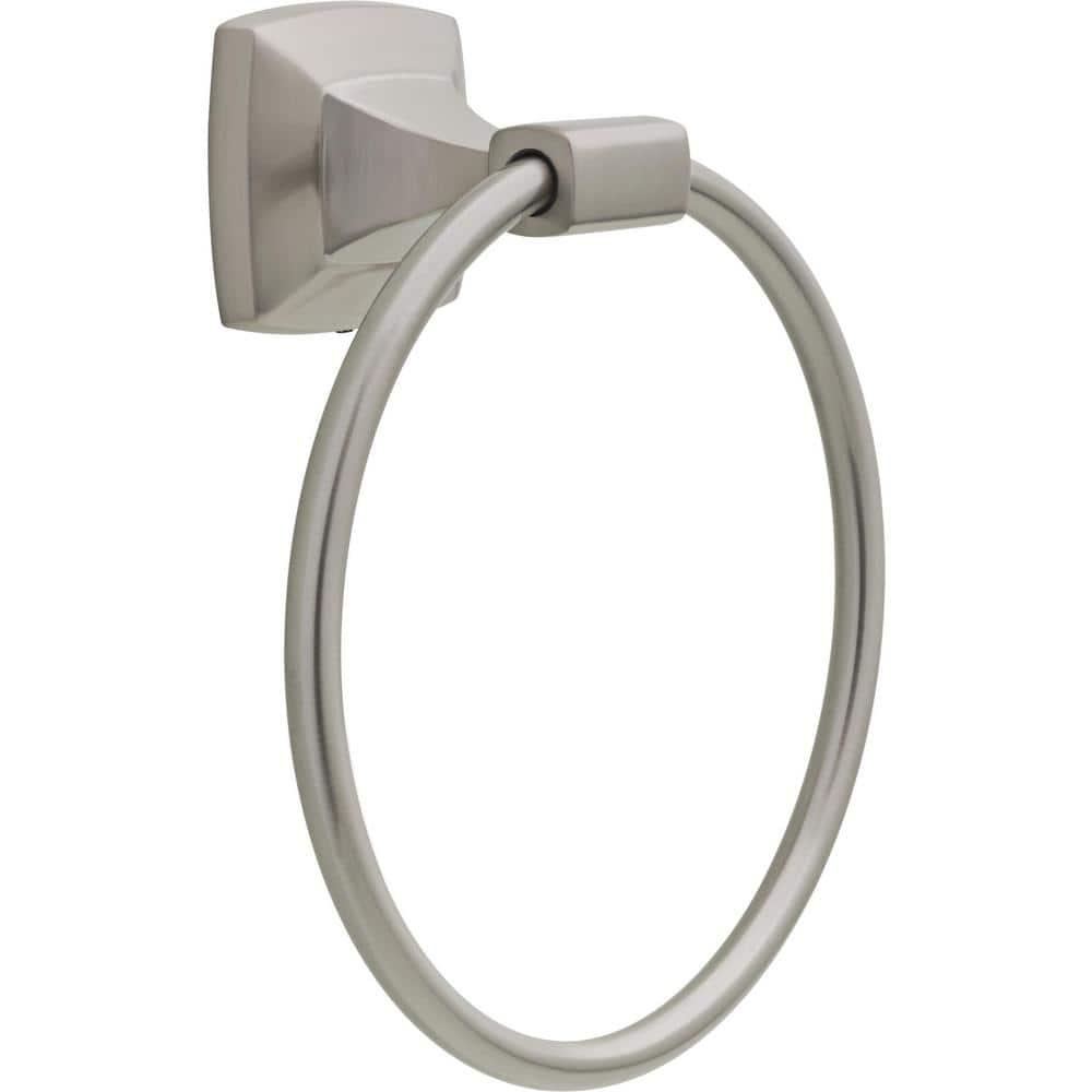 Delta Sandover Spotshield Brushed Nickel Finish Towel Ring SAN46-BN Brand New