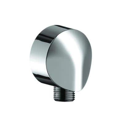 Wall Outlet with Check Valve in Chrome