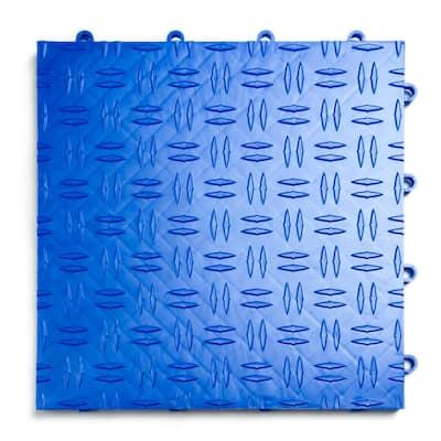 12 in. x 12 in. Diamond Royal Blue Modular Tile Garage Flooring (24-Pack)