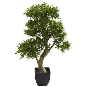 Indoor 37 in. Podocarpus Artificial Tree