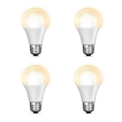60-Watt Equivalent Soft White (2700K) A19 Dimmable Wi-Fi LED Smart Light Bulb (4-Pack)